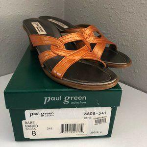 Paul Green Heels Babe Mango Shoes Size 8 Brown 660